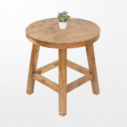 Table mange debout en bois ronde