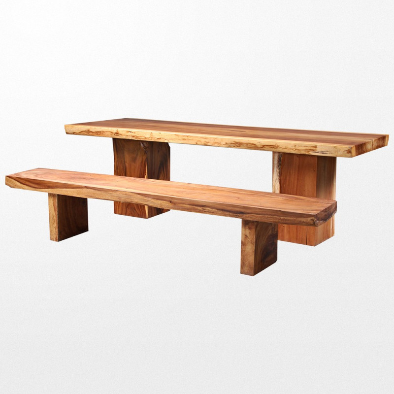 Grande table en bois massif naturel