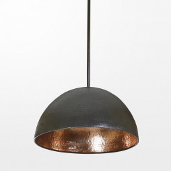 Lampe suspendue contemporaine et ethnique en bronze