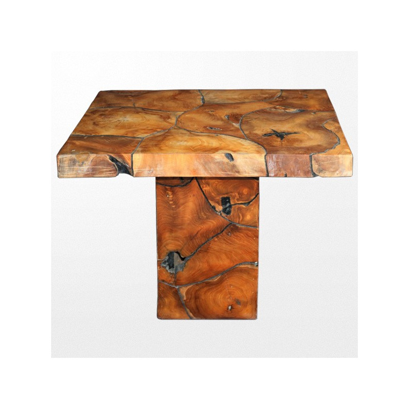 Table design en bois exotique