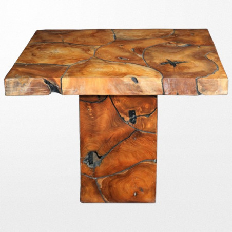 Table basse design en bois exotique