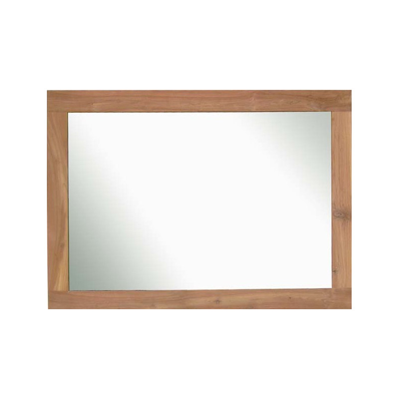 Grand miroir mural horizontal ou vertical en bois naturel for Grand miroir sans cadre