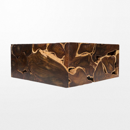 Table basse en bois de 100 x 43 x 100 cm