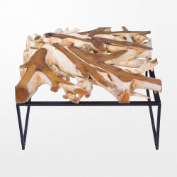 Table basse en bois design de 50 x 100 x 100 cm