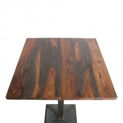 Table en bois Sheesham de 70 x 70 cm
