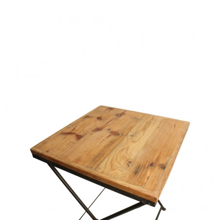 Table de bistrot pliante en bois de pin